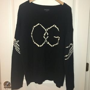 Obey Sweaters - Obey 'OG' Black + White Sweater - Size L